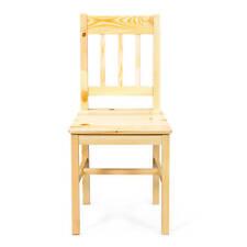 Set de deux chaises en pin massif vernis naturel 41 x 46 x 85cm