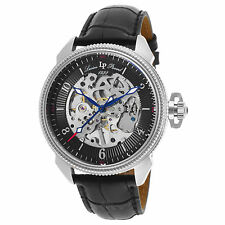 Lucien Piccard 40052M-01 Mechanical Black Genuine Leather Men's Watch