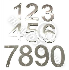 Stainless Steel House Numbers - No 387 - SCREW on house / Door / Building 10cm