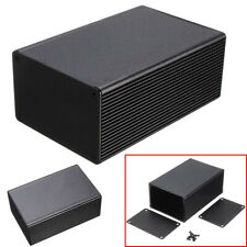 Black Aluminum Electronic Box Instrument Meter Enclosure Case 100mmx 66mm x 43mm