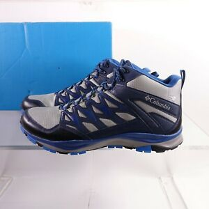 Size 12 Men's Columbia Wayfinder Mid Outdry Waterproof Boots Monument/Blue Jay
