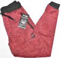 Akademiks Jogger Pants Men's STDM Active Fleece Sweatpants Red Black Marled N954