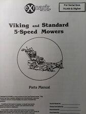 Exmark Viking Amp Standard 5 Speed Lawn Mower Parts Manual 48 32 36 Sn 70000up