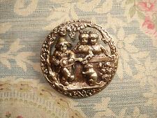 BOUTON ancien    Décor Enfants  1900   Button   d: 38 mm