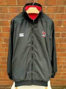 ULSTER RUGBY CANTERBURY MENS SIZE XXL VINTAGE BLACK & RED REVERSIBLE COAT