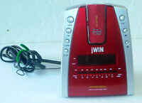 AM/FM Radio Alarm Clock JWIN Model JL707 With Time Projection Working