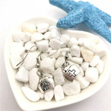Nurse Cap Earrings Tibet silver Charms Earrings Charm Earrings for Her