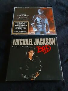Michael Jackson History Past Present & Future Book One & Bad Special Edition cds