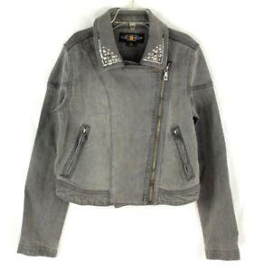 Lucky Brand Girls Gray Denim Jacket Embellished Size M