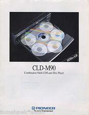 Pioneer CLD-M90 Original Brochure Multi CD/Laser Disc Player