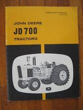 John Deere Jd 700 Tractor operators Manual