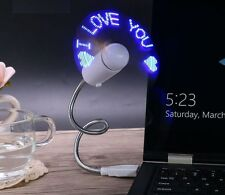 Cool Office Gadget Flexible Gooseneck USB LED Clock Fan For Laptop Notebook PC
