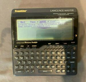Franklin Language Master LM-6000b Speaking Dictionary Thesaurus & Grammer Guide