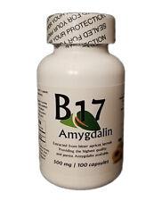 REAL Vitamin B17 Amygdalin 500mg 100 Capsules