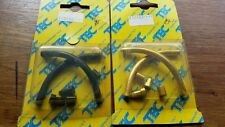 Tec Components - Lightweight Pair of  V Brake  Pipes.  Gold or Black. New.