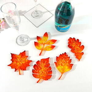 DIY Maple Leaves Coaster Silicone Resin Mold Making Mold Art Crafts Thanksgiving