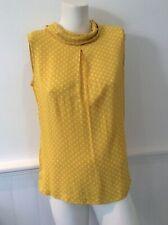 Kew 159 mustard yellow spotted sleeveless top size M bnwt