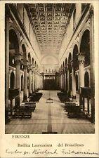 Florenz Firenze Italien Italia Toskana ~1910 Basilica Laurenziana Kathedrale Dom