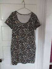 Women's size L large Newport News animal leopard print dress