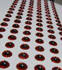 Red and Black Epoxy Eyes Fly Tying Lures Crafts-Lot of 864 3.5mm Self Stick