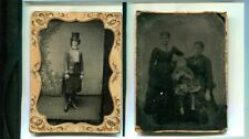FEMALE CIRCUS VINTAGE GLASS PLATE POSTCARD PHOTO ITEM 7344M