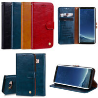 Classic Flip Magnetic PU Leather Wallet Card Pocket Kickstand Case Lot Cover JCW