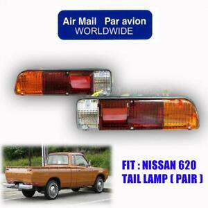 72-79 Fit Nissan Datsun 620 J15 1500 Truck Pickup Tail Lamp Pair