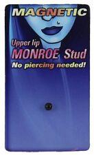Faux Piercing Labret Petite Boule Noire Anodisé