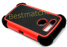 for blackberry torch 9850 / 9860 red case soft hard rubber 3 layers black berry
