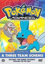 Pokemon Advanced - Vol. 6: A Three Team Scheme (DVD, 2004)