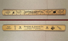Middletown NY: Rare 1946 HANFORD & HORTON STATIONERY 100 Year Anniversary Ruler