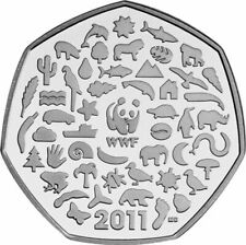 2011 WWF PANDA 50th ANNIVERSARY OF THE WORLD WILDLIFE 50p FIFTY PENCE COIN