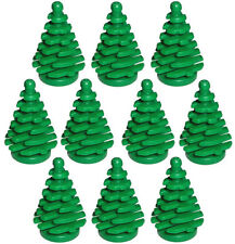 10 NEW LEGO PINE TREES small christmas village parts pieces bricks decoration