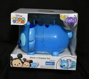 Disney Stack N Display Set Tsum Tsum Stitch Large Tote Carry Storage Case (BX8)