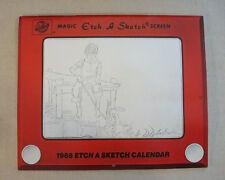 Rare Steve Hanks 1988 Magic Etch-A-Sketch Collectible Calendar Ephemera Toys