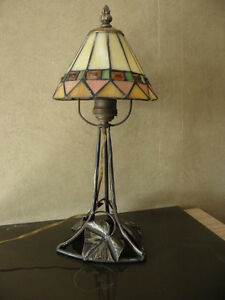 old vintage table lamp vintage Wrought Iron Lampe Tischlamp art deco