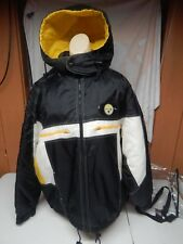 PITTSBURGH STEELERS pro player hooded lined nfl football coat jacket men's LARGE