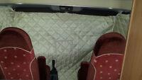 Fiat Ducato 230 Vorhang innen Wärme- und Kälteschutz Isolierung Wohnmobil beige