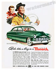Wall Art of a 1949 Ford Monarch Automobile Advertisement 11x14