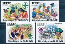 BURUNDI 2011 MNH Imperf 4v, Boy Scouts, Baden Powell  -D2