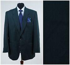 UK 42 Long Mens Green Plain Sports Jacket AUGUSTUS REX Wool Blazer SIZE L Large