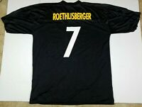 Ben Roethlisberger #7 Pittsburgh Steelers NFL Black Jersey Adult 2XL XXL
