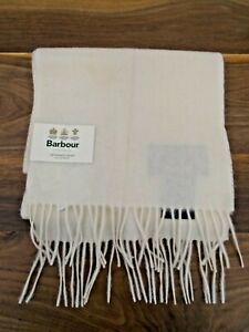 Barbour Cream Lambswool Woven Scarf One Size BNWT
