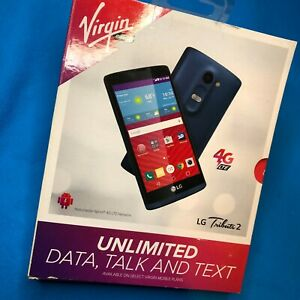 NEW LG Tribute 2 - Quad Core - 8GB - Blue (Virgin Mobile) 🚚 💨 SHIPS SAME DAY