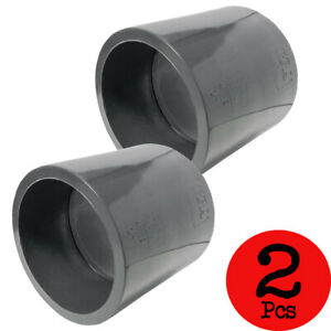 Lot of 2 PCS Sch 80 PVC 3 Inch Straight Coupling Socket Connect