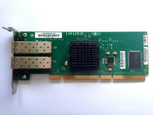 LSI 7202XP-LC DUAL PCI-X 133 2Gb/s  FIBER CHANNEL SERVER ADAPTER CARD
