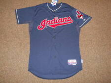 Cleveland Indians Navy Cool Base Authentic Jersey sz 44 Majestic Men New w/ tags