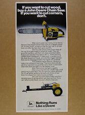 1978 John Deere Chain Saw & No. 5 Log Splitter photo vintage print Ad