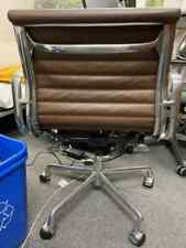 Eames Management Chair Brown Leather Polished Alumni Herman Miller Authentic