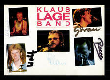 Klaus Lange Band  Autogrammkarte Original Signiert ## BC 95891